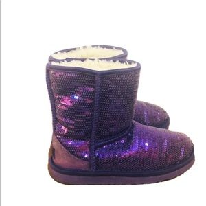 Ugg boots size 3 sequin sheepskin